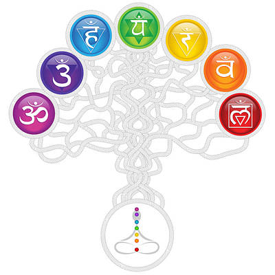 Digital Art - Abstract Chakra Tree Of Life by Serena King