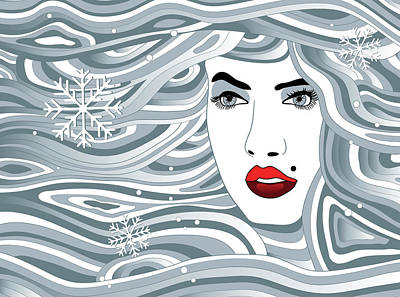 Digital Art - Abstract Christmas Art by Serena King