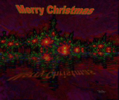 Digital Art - Abstract Christmas by Bill Posner