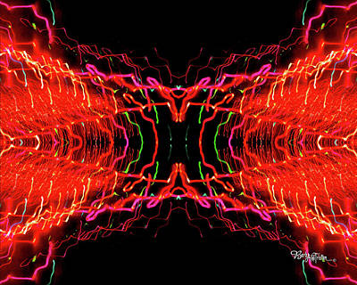 Photograph - Abstract Christmas Lights #174 by Barbara Tristan