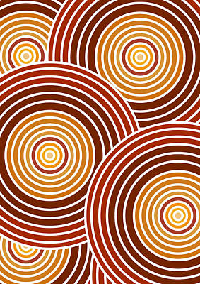 Abstract Patterns Drawing - Abstract Circles by Frank Tschakert