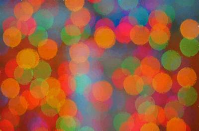 Photograph - Abstract Circles Of Color  by Terry DeLuco