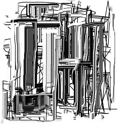 Digital Art - Abstract City #2 by Jessica Wright