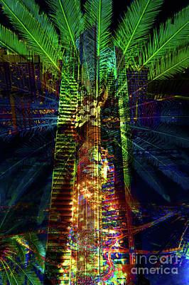 Mixed Media - Abstract City In Green by Barbara Dudzinska
