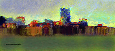 Digital Art - Abstract City   by Miss Pet Sitter