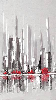 Digital Art - Abstract Cityscape Painting - 1 by Eduardo Tavares