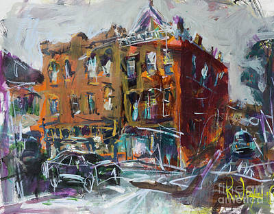 Painting - Abstract Cityscape by Robert Joyner