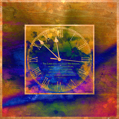 Digital Art - Abstract Clock Of Time by Christine Nichols