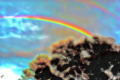 Photograph - Abstract Clouds And Rainbows by Gina O'Brien