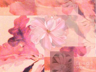 Abstract Collage Floral Art Print by Aleksandra Pomorisac