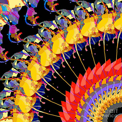 Print featuring the digital art Abstract Collage Of Colors by Phil Perkins