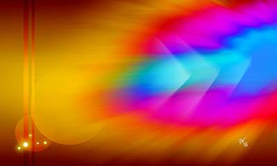 Digital Art - Abstract Color Blast by John Wills