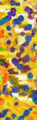 Impressionism Painting - Abstract Color Cobinations 3 by Celestial Images