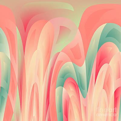 Abstract Color Harmony Art Print