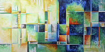 Abstract Colorful Contemporary Art Original Painting A Checkered Life By Megan Duncanson Madart Original