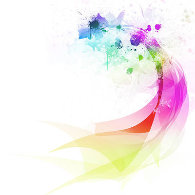 Ethereal Digital Art - Abstract Colorful Curved by Setsiri Silapasuwanchai