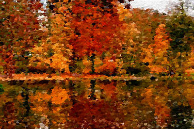 Water Digital Art - Abstract Colors Of Autumn  by Anthony Fishburne