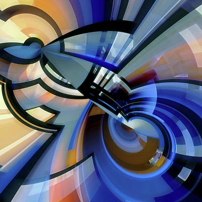 Digital Art - Abstract Composition 23 by Angel Estevez