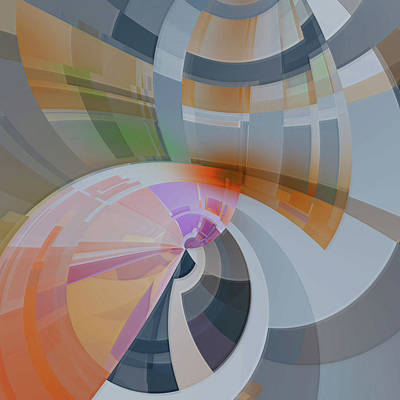 Digital Art - Abstract Composition 26 by Angel Estevez