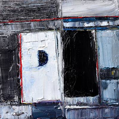 City And Colour Painting - Abstract Concrete Metropolis by Ana Maria Edulescu