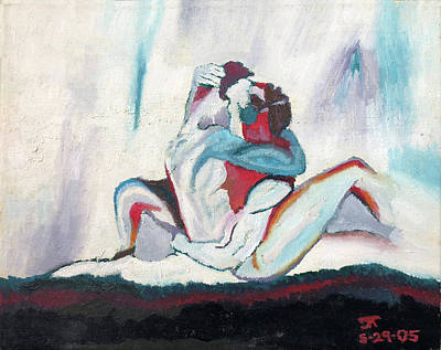 Painting - Abstract Couple  by Troy Caperton