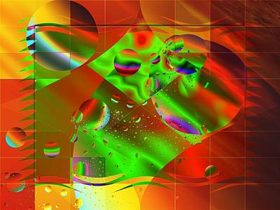 Abstract Covers Art Print by Mario Carini