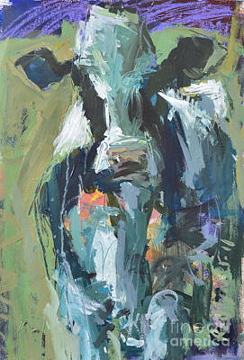 Art Print featuring the painting Abstract Cow Painting by Robert Joyner