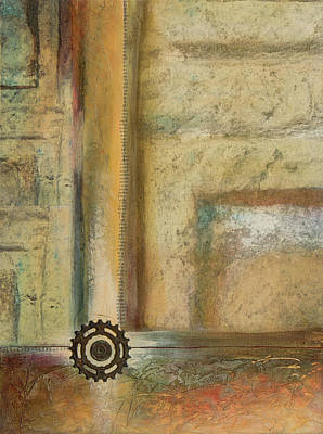 Wall Art - Mixed Media - Abstract Cross by Jane Dill