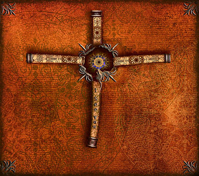 Painting - Abstract Cross by Radoslav Nedelchev
