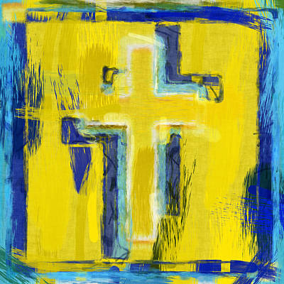 Abstract Religious Art Digital Art - Abstract Crosses by David G Paul