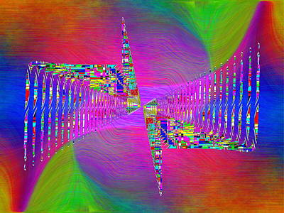 Digital Art - Abstract Cubed 373 by Tim Allen