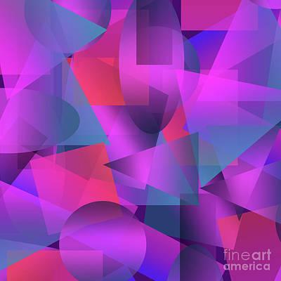 Abstract Cubes Art Print