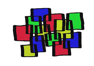 Abstract Cubicles Art Print