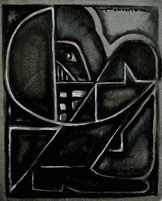 Painting - Abstract Cubism Darth Vader Painting by Tommervik