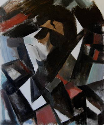 Michael Jackson Painting - Abstract Cubism Michael Jackson Art Print by Tommervik