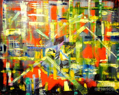 Painting - Lines And Colors by Dagmar Helbig
