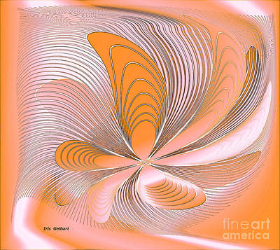 Digital Art - Abstract Daisy by Iris Gelbart