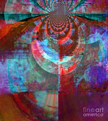 Abstract David Dance Art Print by Fania Simon