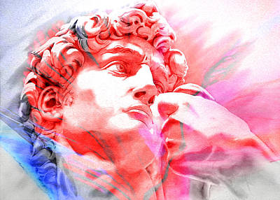 Art Print featuring the painting Abstract David Michelangelo 1 by J- J- Espinoza