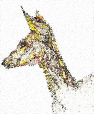 Digital Art - Abstract Deer by Darren Cannell