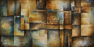 Earth Tones Painting - Abstract Design 100 by Michael Lang