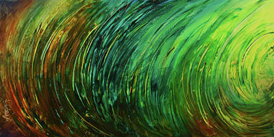 Earth Tones Painting - Abstract Design 106 by Michael Lang