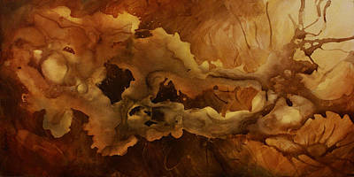 Earth Tones Painting - Abstract Design 20 by Michael Lang