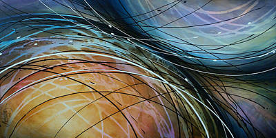 Sofa Size Painting - Abstract Design 41 by Michael Lang
