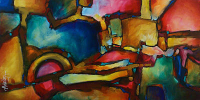 Upscale Painting - Abstract Design 62 by Michael Lang