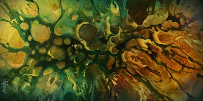 Earth Tones Painting - Abstract Design 79 by Michael Lang