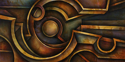 Distortions Painting - Abstract Design 87 by Michael Lang