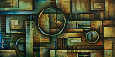 Earth Tones Painting - Abstract Design 92 by Michael Lang