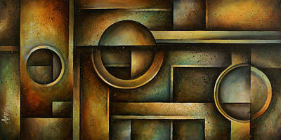 Earth Tones Painting - Abstract Design 95 by Michael Lang