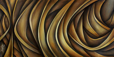 Earth Tones Painting - Abstract Design 98 by Michael Lang